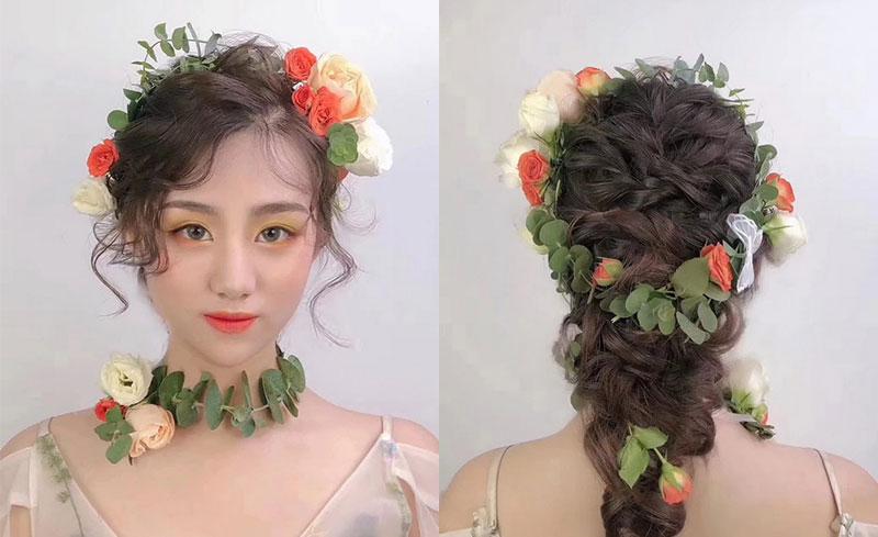 森系新娘造型