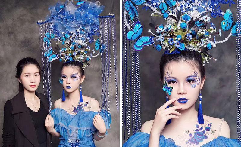 学员作品舞台创意,妆发:吴小丽